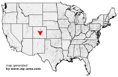 US Zip code Gardner Colorado