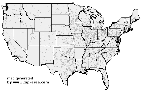 US Zip Code United States Of America - Map of united states zip codes
