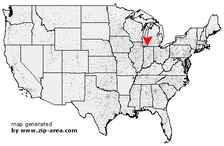 New Carlisle Indiana Map.Us Zip Code New Carlisle Indiana