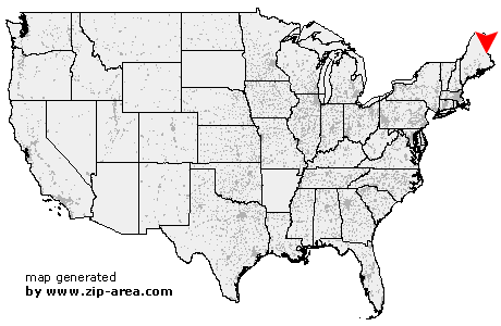 Danforth Maine Map.Us Zip Code Danforth Maine