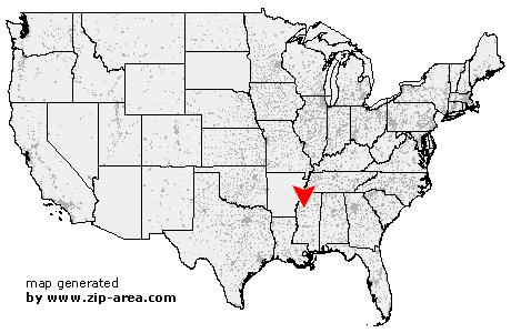 US Zip Code Money Mississippi - Us money map