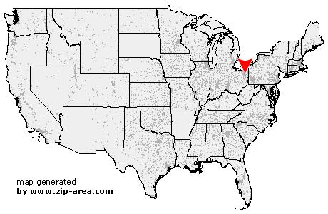US Zip Code Atwater Ohio - Ohio location on us map