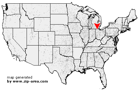 US Zip code Delta Ohio
