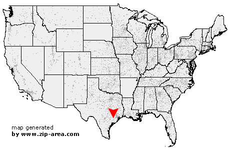 US Zip Code Egypt Texas - Map of egypt texas