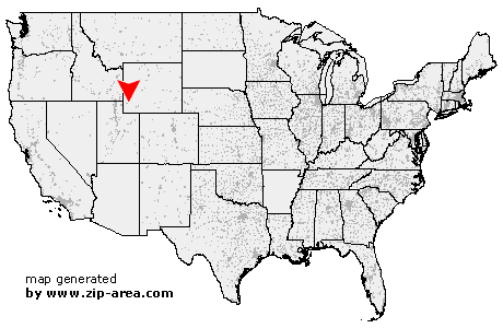 Kemmerer Wyoming Map.Us Zip Code Kemmerer Wyoming